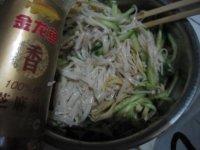 凉拌黄瓜豆皮金针菇的做法