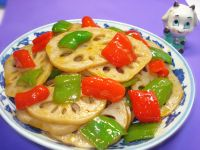 番茄酱伴藕片的做法