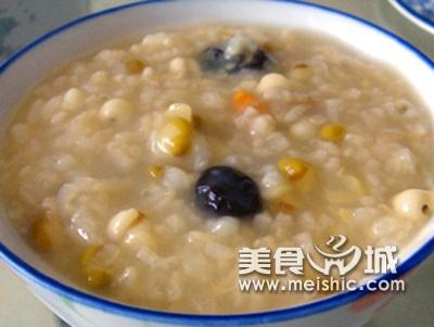 荷叶粳米粥