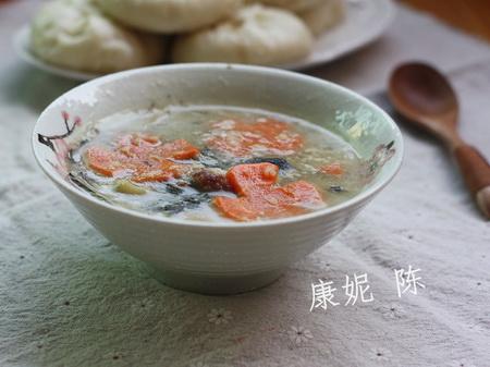 菜干咸猪骨粥