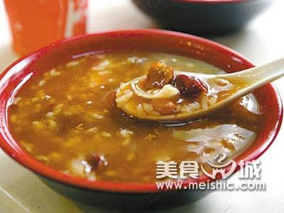 红花桃仁粥