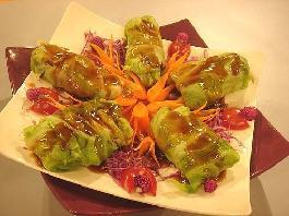 三文鱼花菜卷的做法