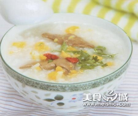蛋黄鸡肝粥