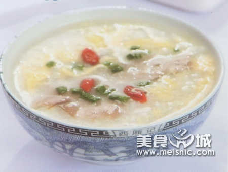 鸡蛋枸杞猪肝粥