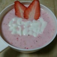 甜品草莓酸奶的5步做法