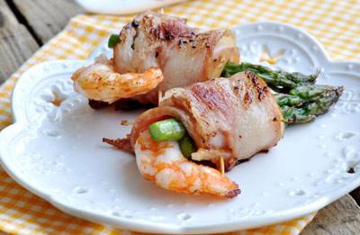 培根芦笋鲜虾卷做法