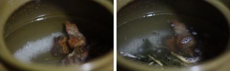 菜干咸猪骨粥做法步骤3-4