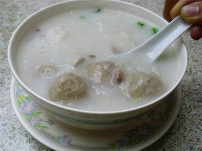 蚝豉肉丸粥