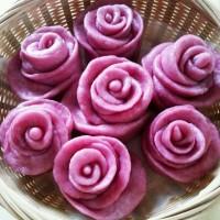 奶香紫薯玫瑰花卷的图解做法