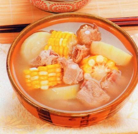 玉米节瓜煲排骨