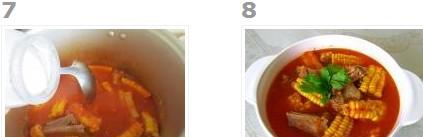 菜香玉米排骨汤的做法