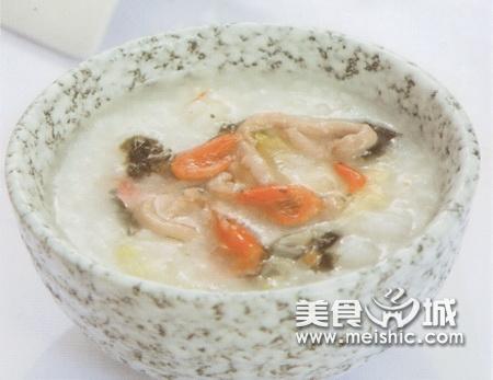 白菜紫菜猪肉粥