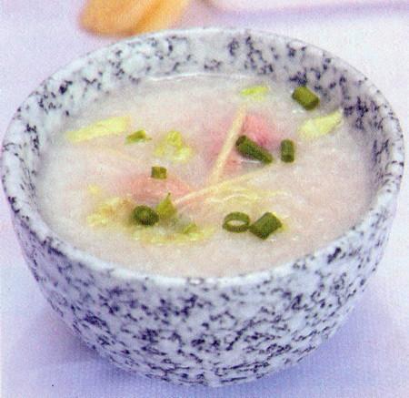 白菜鸭肉粥