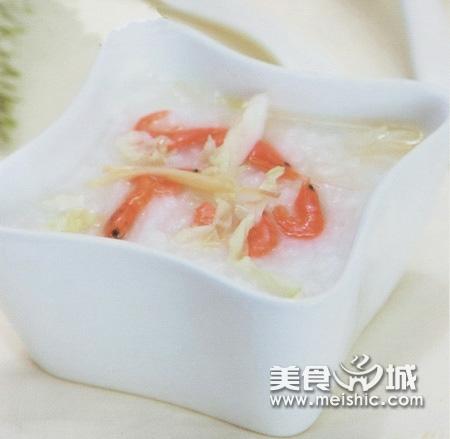 虾米圆白菜粥