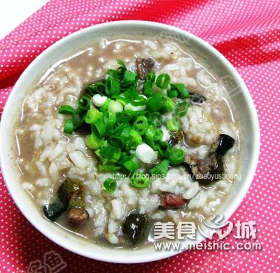 鱼肉口蘑粥