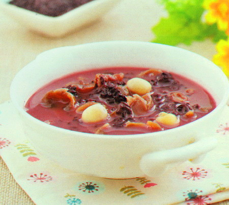 奶香紫米粥
