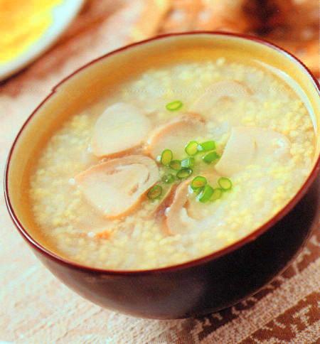 草菇小米粥