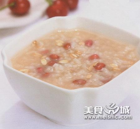 红豆麦片粥