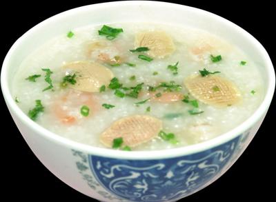 翡翠虾球粥