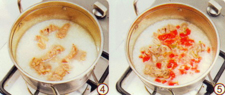 番茄肥牛粥做法步骤4-5