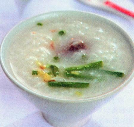 韭菜猪骨粥