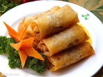 徽小吃荠菜春卷的做法