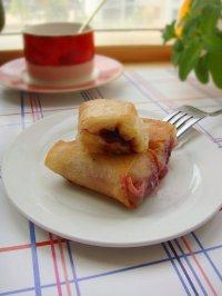蓝莓酱香蕉卷的制作方法