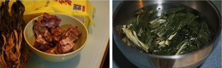 菜干咸猪骨粥做法步骤1-2