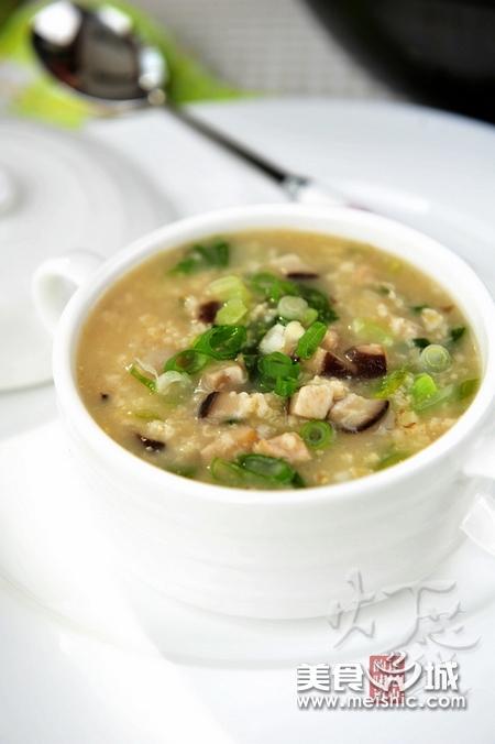 肉丝青菜燕麦粥