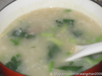 菠菜猪肝粥步骤5