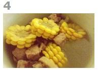 港式干贝玉米排骨汤的做法