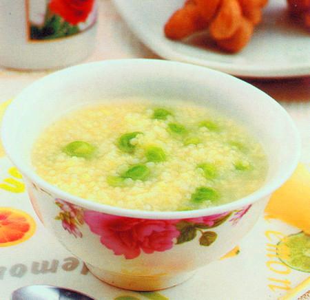 小米青豆粥