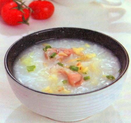 猪肠白菜粥