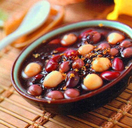黑米桂花粥