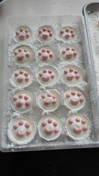 猫爪棉花糖的图解做法