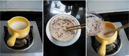 黑玉米百合碎肉粥步骤10-12