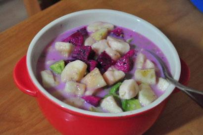 百吃不厌的椰汁水果捞的做法