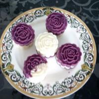 精致甜点4步曲---紫薯山药糕