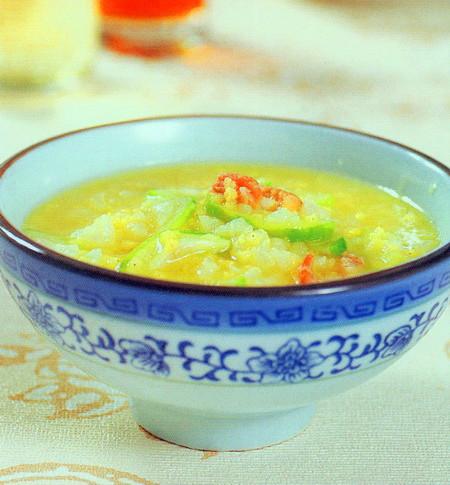 丝瓜虾米粥