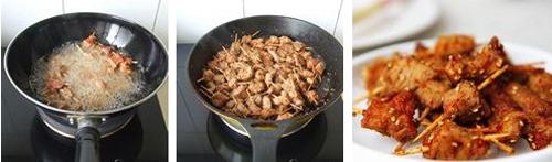 自制烧烤味的牙签肉