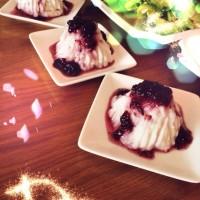 餐后甜点---蓝莓山药泥