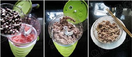 黑玉米百合碎肉粥步骤7-9