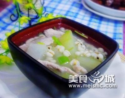 冬瓜瘦肉薏米粥