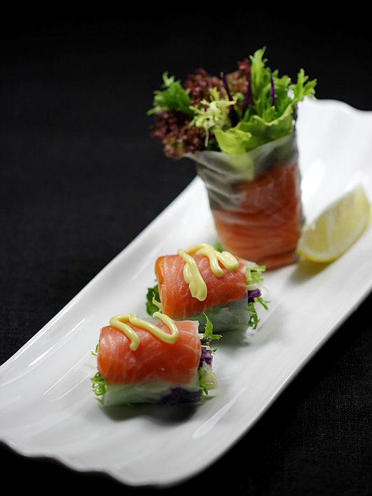三文鱼蔬菜卷做法