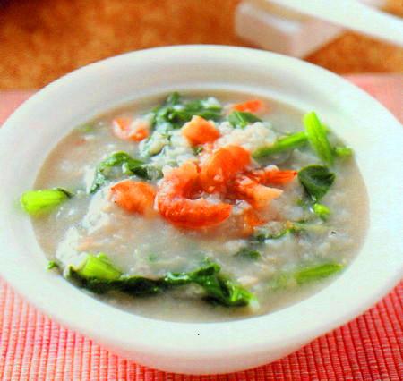 虾米菠菜粥