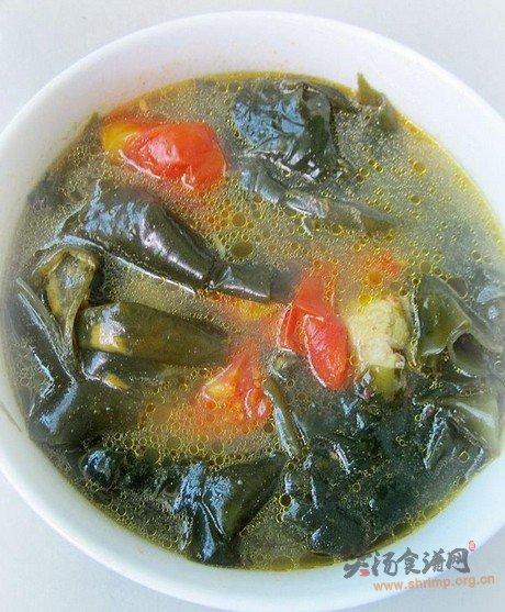 番茄海带猪骨汤的做法