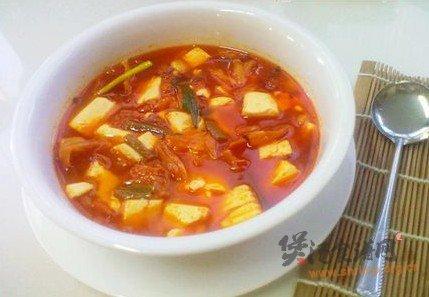 酸辣泡菜豆腐汤的做法
