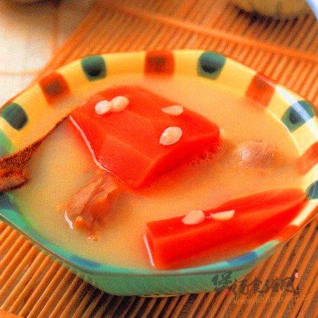 南北杏木瓜猪肉汤的做法