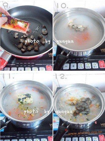 鲜味海参粥的做法