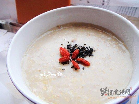 豆浆核桃四谷粥的做法